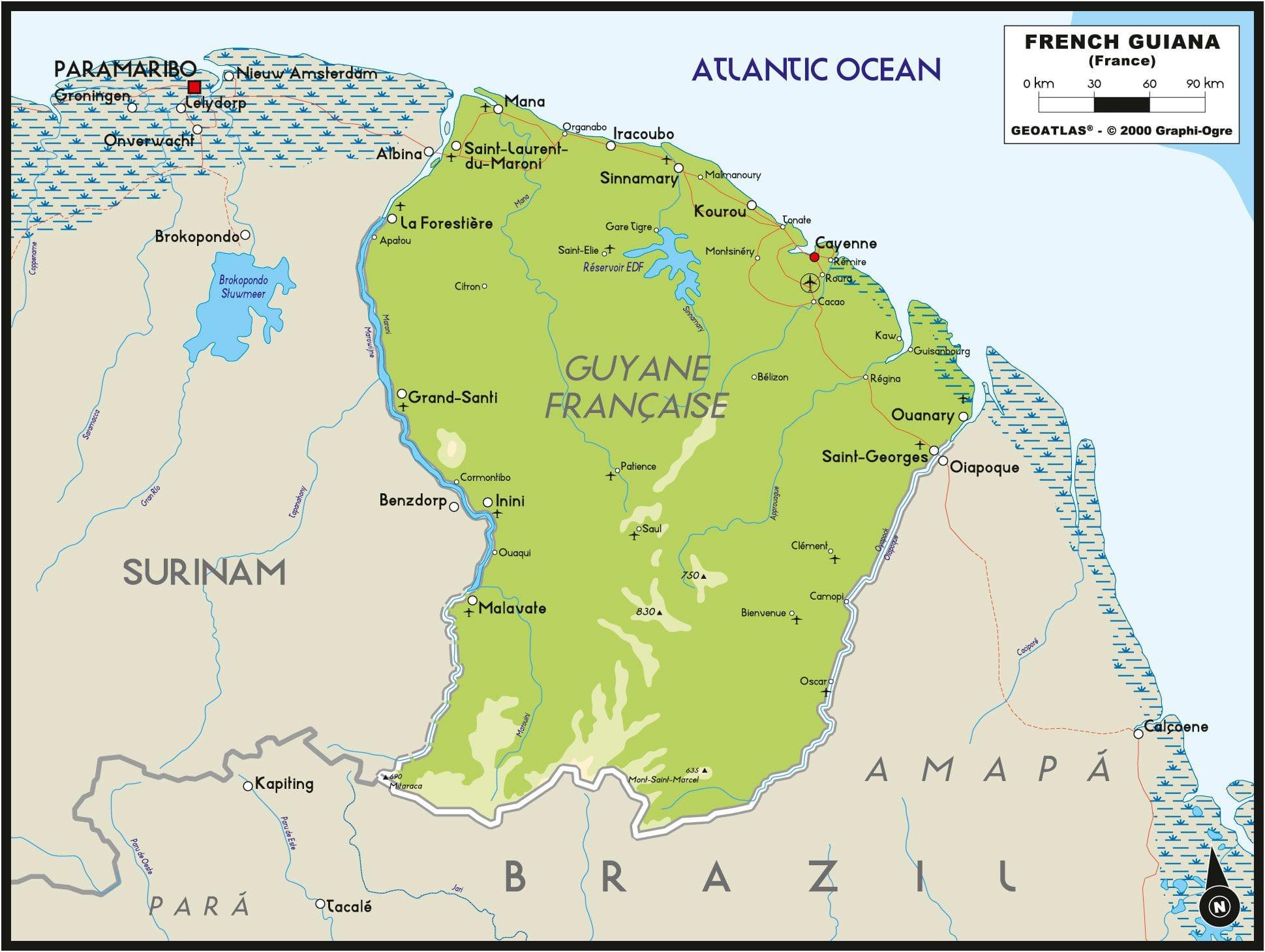 Frans Guyana Landen Cosmic Travel Reizen Naar Zuid