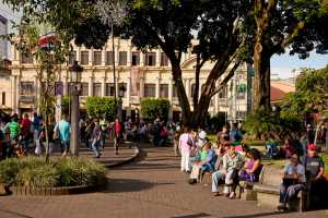 Locals at the Central Park Parque Central in the capital San Jose - Costa Rica-Cosmic Travel