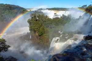 The Iguazu falls in South America at the border of Argentina with Brazil. - Iguazu-Cosmic Travel
